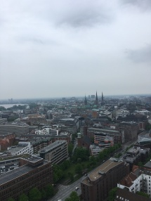 View of Hamburg from the top of Der Michel