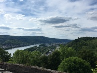View from Marksburg Castle of the Rhine