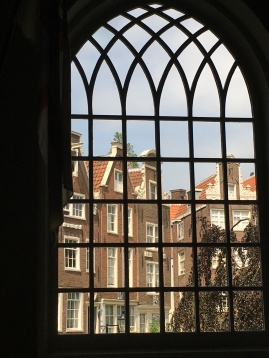 View out the window of the English Reform Church